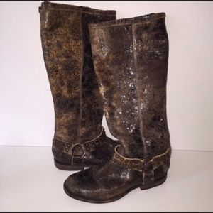 Frye Shoes - FRYE Phillip Tall Harness Studded Boots